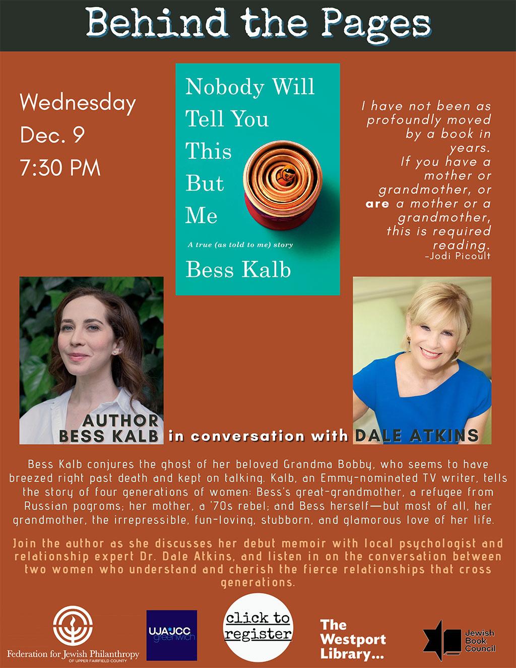 Dr. Dale Atkins Interviews Emmy-Nominated TV Writer Bess Kalb